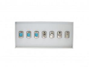 Kralen Selectie 7: Crystal Love set in Turquoise