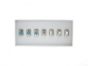 Kralen Selectie 8: I love you with Turquoise Stone and White Pearl