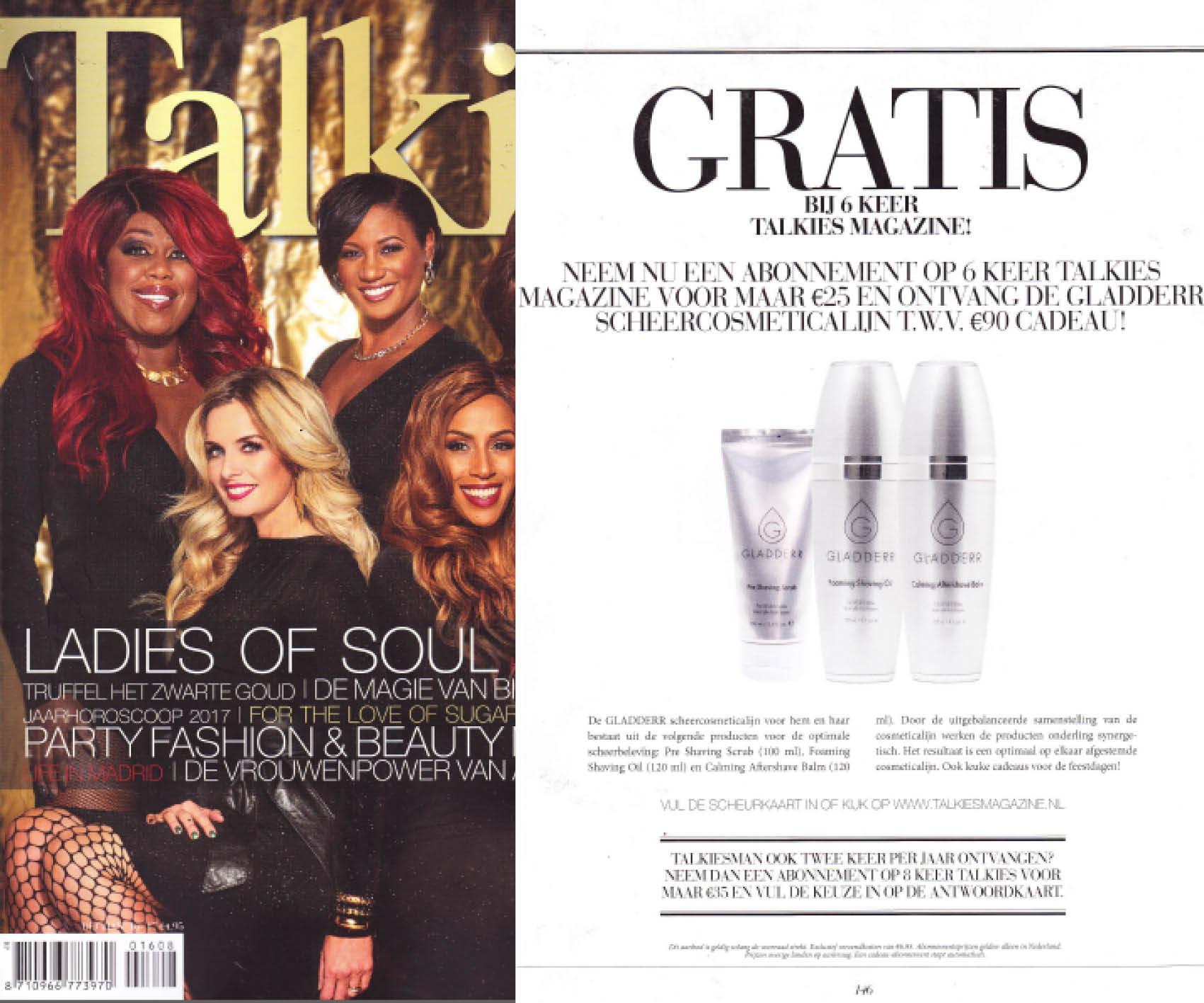Talkies magazine: GLADDERR cadeau